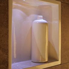Modern Showers by Bathroom Tile Shower Shelves