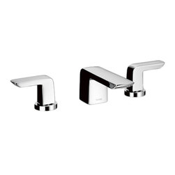 Toto - Toto TL960DDLQ#CP Polished Chrome Soirie Widespread Lavatory Faucet - Toto TL960DDLQ#CP is a two lever handle widespread lavatory faucet from the Soiree Collection of Toto USA Faucets. The contemporary design adds a clean, modern style to any bathroom. It comes in a Polished Chrome finish, with a brass construction, and a pop-up drain assembly.