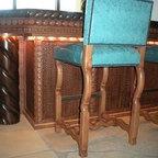 custom mesquite, old maple and knotty alder bar -