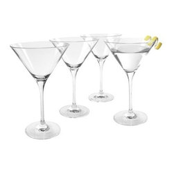 Artland Inc. Veritas Martini Glasses- Set of 4 - Enjoy your favorite kind of martini, from super-sweet appletinis to classic, with the Artland Inc. Veritas Martini Glasses - Set of 4. Each glass features a clear, high-quality body made from durable lead-free crystal. Suitable for casual, everyday use, these glasses are dishwasher-safe for easy cleaning. Hand-wash. 7 ounces.