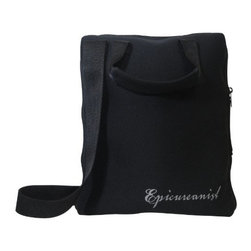 Vinotemp - Epicureanist On-The-Go Tote - Pack your wine bottle and any accessories you need to take along with you in this On-The-Go Tote. The 7 soft storage pockets will securely hold a wine bottle, 2 glasses, drip stop ring, corkscrew, wine pourer, and a wine bottle stopper.