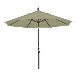 California Umbrella - 9 Foot Pacifica Aluminum Crank Lift Push Tilt Patio Umbrella, Bronze Pole - California Umbrella, Inc. has been producing high quality patio umbrellas and frames for over 50-years. The California Umbrella trademark is immediately recognized for its standard in engineering and innovation among all brands in the United States. As a leader in the industry, they strive to provide you with products and service that will satisfy even the most demanding consumers.