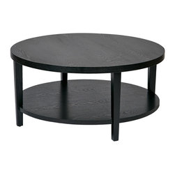 Office Star - Office Star Merge 36x36 Round Coffee Table in Black - Ave Six Merge 36 Inch Round Coffee Table. Black Finish. What's included: Coffee Table (1).