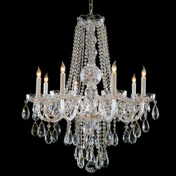 Crystorama - Crystorama 1108-CH-CL-MWP Traditional Crystal 8 Light Chandeliers in Polished Ch - Traditional crystal chandeliers are classic, timeless, and elegant. Crystorama''s opulent glass arm chandeliers are nothing short of spectacular. This collection is offered in a variety of crystal grades to fit any budget. For a touch of class, order this collection in Gold for traditionalists or in Chrome to match your contemporary or transitional decor.