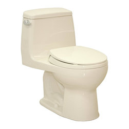 TOTO - TOTO MS853113E#11 Eco Ultramax Round Front One Piece Toilet, Colonial White - TOTO MS853113E#11 Eco Ultramax Round Front One Piece Toilet, Colonial White When it comes to Toto, being just the newest and most advanced product has never been nor needed to be the primary focus. Toto's ideas start with the people, and discovering what they need and want to help them in their daily lives. The days of things being pretty just for pretty's sake are over. When it comes to Toto you will get it all. A beautiful design, with high quality parts, inside and out, that will last longer than you ever expected. Toto is the worldwide leader in plumbing, and although they are known for their Toilets and unique washlets, Toto carries everything from sinks and faucets, to bathroom accessories and urinals with flushometers. So whether it be a replacement toilet seat, a new bath tub or a whole new, higher efficiency money saving toilet, Toto has what you need, at a reasonable price. TOT