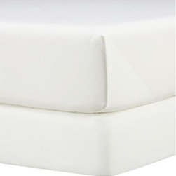 Matelasse California King Box Spring Cover - Bright white Portuguese cotton in a richly textured matelass� weave neatly dresses a box spring or foundation for a tailored, finished look. Complements virtually any bed linens.