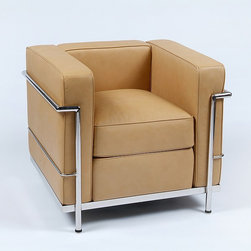 Modern Classics - Le Corbusier: LC2 Petite Lounge Chair Reproduction - Features: