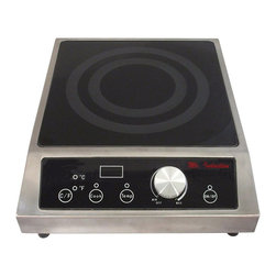 SPT Appliance - 1800W Countertop Commercial Induction Range - SmartScan� technology: voltage, pan size and type recognition. 5mm thick tempered glass cooktop. Choice of power or temperature mode . Power mode: 1-20 levels (350-1800W) . Temperature mode: 90-440�F (in 20�F increments, except 170-180/260-270/350-360�F). Large LED power/temp display. Displays in �F or �C. Simple knob-set thermostat control. Touch-sensitive controls and stainless steel body . Power ON/OFF touch pad with indicator light. Cook & Temp mode indicator lights. Over or under voltage protection. 6' power cord length. FCC / CETL / ETL-Sanitation to NSF-4Customize your food service facility and revolutionize your food preparation with the most advanced commercial induction equipment available. Ideal for demonstration cooking, suite service, catering and buffets. Features SmartScanT enhancement and COOK and TEMP modes. Restaurants use only.