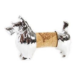 DEI - Terrier Cork Holder - Good dog, indeed. This four-legged friend is far more than a whimsical d̩cor addition; It's a cork holder that keeps reminders of laughs and long talks within view. �� 2.25'' W x 3.25'' H x 0.75'' D Metal Imported