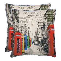 Safavieh Home Furniture - London 18-Inch Multi Decorative Pillows - Set of Two - - London 18-Inch Multi Decorative Pillows - Set of Two  - Please note this item has a 30-day manufacturer's limited warranty that covers product defects. Inspect your purchase upon delivery and notify us immediately with any concerns. Safavieh Home Furniture - PIL460A-1818-SET2