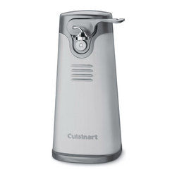 Cuisinart - Cuisinart SCO-60 Stainless Steel Deluxe Can Opener - With this Cuisinart Deluxe can opener,cans of all sizes can be opened quickly and easily. This stainless steel can opener offers a press-and-release lever and a single-speed to make your kitchen an easier place to cook.