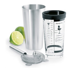 Blomus - Boston Shaker Set - What nicer invitation to shake it up and get your party rolling than this suave and smart set? Everything you need to set the stage for James Bond glamour or Margaritaville good times is here, right in the palm of your hand.