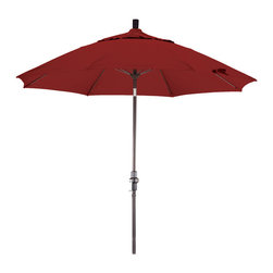 California Umbrella - 9 Foot Sunbrella Crank Lift Collar Tilt Aluminum Market Umbrella, Bronze Pole - California Umbrella, Inc. has been producing high quality patio umbrellas and frames for over 50-years. The California Umbrella trademark is immediately recognized for its standard in engineering and innovation among all brands in the United States. As a leader in the industry, they strive to provide you with products and service that will satisfy even the most demanding consumers.