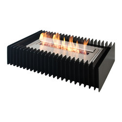 "Ignis Products - EBG2100 Ethanol Fireplace Grate - With the help of this EBG2100 Ethanol Fireplace Grate, you can transform your wood-burning fireplace to an ethanol model in just minutes. This rectangular-shaped grate and burner set requires little to no maintenance and is easy to install. This burner operates on ethanol, a clean-burning fuel that doesn't release gas, soot, or smoke and that doesn't require venting or a chimney to use. This 23,000-BTU unit burns for up to eight hours per refill, and it hold 10 liters of fuel. It features double-layer construction for added durability and resilience, and it's designed to last for many seasons of functional use. Dimensions: Grate: 27 3/4"" x 19 1/2"" x 6 1/2"". Burner: 2 1/4"" x 12"" x 4 1/2"". Features: Eco-Friendly - doesn't produce any smoke, sooth or dangerous gases. Easy Maintenance - just wipe it with a damp cloth once in a while."