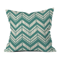 DENY Designs Heather Dutton Weathered Chevron Outdoor Throw Pillow