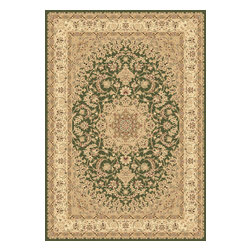 """Dynamic Rugs - Dynamic Rugs Legacy 58000-420 (Green) 6'7"""" x 9'6"""" Rug - Legacy is yet another superb collection with magnificent styling and priced to fit any budget. Legacy is densely Woven on wilton loom with high quality heat-set polypropylene that is anti-static with highest color fastness."""