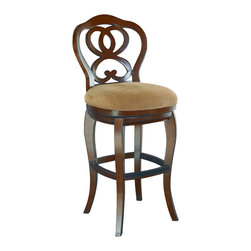 Hammary - Hammary T73185-00 Hidden Treasures Barstool in Cherry - The Hidden Treasures collection is a fabulous assortment of one-of-a-kind accent pieces inspired by the greatest furniture designs from around the world. Each selection is a true treasure - rich in old world icons and traditions. All the pieces in this collection are crafted with attention to every detail. From brass nailhead trim and exquisite hand-painting to elegant shaping and decorative trim, every item is a unique work of art. A wide variety of materials is used to create the perfect look and finest quality - from exotic woods, leather and stone to raffia and glass. The huge selection of finishes, hardware, exceptional carvings and other final touches offer unsurpassed versatility for any room in the home. Hidden Treasures includes cocktail tables, occasional and accent pieces, trunks, chests, consoles, wine racks, desks, entertainment units and interesting storage pieces. Place one in a comfortable reading nook... In the family room for flair and variety... In the foyer for a welcome look... In a bedroom for cozy style... Or in the office for function and versatility. The pieces in this collection mix beautifully with any decorating style and will easily become the focal point in any setting.
