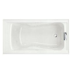 Modern bathtubs houzz for How deep is a normal bathtub