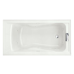 American standard american standard 2422 for How deep is a normal bathtub