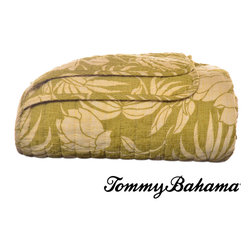 Tommy Bahama - Tommy Bahama Plantation Floral Lime Quilted Throw - This Tommy Bahama quilted throw is a great addition to any room and coordinates well with quilts. The 100-percent cotton quilted throw is conveniently machine washable for easy care.