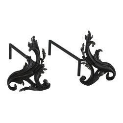 Cyan Design - Cyan Design Fireplace Floral Andirons X-05220 - Floral Andirons