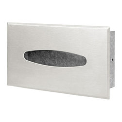 Geesa - Wall Mounted Recessed Tissue Box Cover - Contemporary style wall mounted recessed tissue box cover.