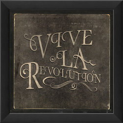 """The Artwork Factory - """"Vive La Revolution"""" Print - Whether you're staging a major uprising on your present decor, or simply stirring things up a bit, this fade-resistant, museum-quality print will keep the spirit alive far into the future."""