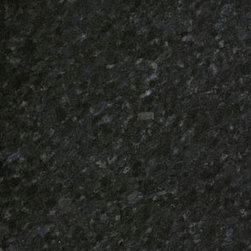 Black Pearl Black granite countertop India - Black Pearl granite features black background with fine brown green flecks. B