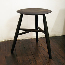 Dining Stool by Jonah Meyer - This charming three-legged stool makes a wonderful accent table or extra seating. I particularly like the way designer David Howell used it as a table beside a contemporary freestanding bathtub.