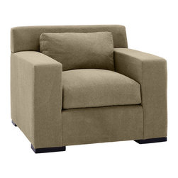 Lazar Industries - Corvo Arm Chair in Woolco Taupe - Corvo Arm Chair by Lazar Industries offers exceptional style and comfort with track arms and exquisite tailoring.