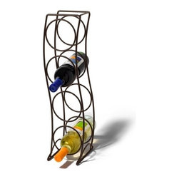 Spectrum Diversified Designs - 4 Bottle Curve Wine Rack, Bronze - Spectrums Curve 4-Bottle Wine Rack combines a stylish look with space-saving convenience. The clever design keeps wine bottles at the proper angle to help prevent corks from drying. Made of sturdy steel, this wine rack will add a modern touch to your home.