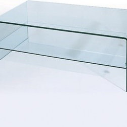 C26 Glass Rectangular Coffee Table - Clean, simple lines and a graceful shape is what you will find in the C26 Glass Rectangular Coffee Table. Simultaneously an art piece and a functional coffee table, this piece features a bent glass frame and tempered glass shelf that creates an accent piece that will fit well with nearly any living room decor.About Beverly Hills FurnitureKnown as the premier purveyor of contemporary furniture, Beverly Hills Furniture is a U.S.-based importer and wholesaler of modern furniture. The Jersey City, NJ-based company has a passion for the very finest designs and quality. The success Beverly Hills Furniture has enjoyed with its retail dealers over the years is a testament to the tremendous marketability of their products.
