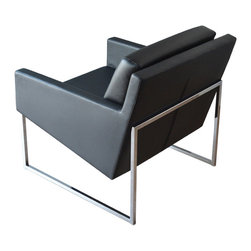 Nova Armchair by sohoConcept - Super sleek and comfortable too, the Nova Armchair with chrome frame is available in leatherette or wool upholstery. It's a perfect choice for the modern living room, game room or home office.