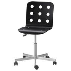 JULES Swivel chair - black/silver color - IKEA