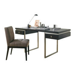 Sunpan - Bentley Desk, Espresso - Ultra-modern desk with minimalist design provides both function and style