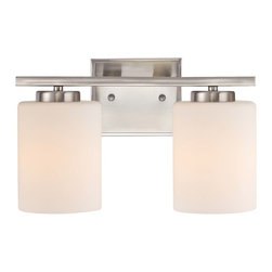 Dolan Designs - Dolan Designs 3882-09 Chloe Satin Nickel 2 Light Vanity - Dolan Designs 3882-09 Chloe Satin Nickel 2 Light Vanity