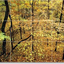 Picture-Tiles, LLC - Trees Leaves Photo Kitchen Tile Mural T011 - * MURAL SIZE: 18x24 inch tile mural using (12) 6x6 ceramic tiles-satin finish.