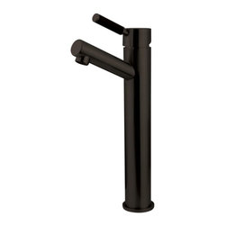 Kingston Brass - Oil Rubbed Bronze Kaiser Single Handle Vessel Sink Faucet FS8415DKL - The single-handle vessel sink faucet is fabricated from solid brass material for durability and reliability. Its sleek design and lustrous appeal also features a premium color finish which is resistant to tarnishing and corrosion. With its solid brass construction and smooth detail, the faucet is made to appeal but also is engineered to be drip-free, care-free and long-lasting.Manufacturer: Kingston BrassModel: FS8415DKLUPC: 663370180705Product Name: Single Handle Vessel Sink FaucetCollection / Series: KaiserFinish: Oil Rubbed BronzeTheme: Contemporary / ModernMaterial: BrassType: FaucetFeatures: Constructed from solid brass for durability and reliability