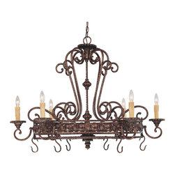 Savoy House - Savoy House 1P-50039-6-56 Rowen 6 Light Pot Rack - Savoy House 1P-50039-6-56 Rowen 6 Light Pot Rack