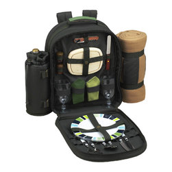 Picnic at Ascot - ECO Picnic Backpack Cooler with Blanket for Two - Features:
