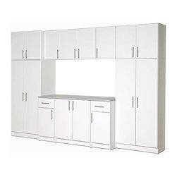 Prepac - Elite 10-Pc Cabinet Storage Set in White - This 10-piece storage set is easy to ...