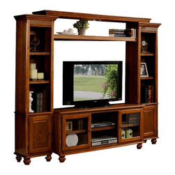 Profile entertainment center wall unit contemporary for Acme kitchen cabinets calgary