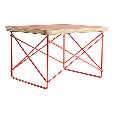 Herman Miller Select Eames Wire-Base Table - This low table makes a perfect nightstand. Its profile stays out of the way, and the unexpected pop of color will help you get up on the right side of bed.