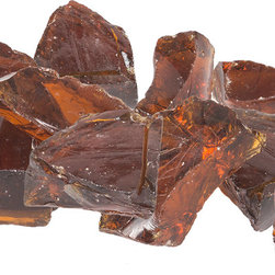 Dagan Industries - Large Landscaping Glass Chunks - 3 to 5 inch, Copper - Large Glass Chunks