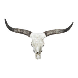 Walls Need Love - Long Horn, Adhesive Wall Decal - Bring a touch of the iconic desert landscape into your domain. This striking wall decal depicts the cow's prominent skull and character-rich horns.
