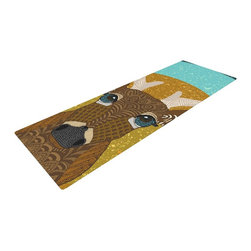 """KESS InHouse - Art Love Passion """"Stag in Grass"""" Yellow Blue Yoga Mat - Release your inner yogi in style with these artistically unique yoga exercise mats. These mats allow you to stretch and pose freely and comfortably as they are 72"""" x 24""""! Made of a durable, textured non-slip backing foam, these 1/4"""" thick mats will cushion your body to allow you to child's pose and more during your workout routine. Carry your lightweight mat in a polyester blend bag with an adjustable shoulder strap for easy travel and clean up. These yoga exercise mats can be cleaned with a swipe of a towel and mild soap."""