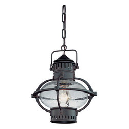 "Troy Lighting - Troy Lighting F1877 Portsmouth 1 Light 12"" Outdoor Lantern Pendant - Troy Lighting F1877 Traditional / Classic One Light 12"" Tall Outdoor Hanging Lantern from the Portsmouth CollectionBeing a Leader in an Industry requires many attributes. Troy Lighting's passion for quality, design, value and service lead the way. Their Team of Lighting Professionals are serious about producing awesome lighting and having a strong, well-run company.  Hand-Forged Iron, Hand Applied Finishes, Glass and Shades that compliment the style are primary ingredients in Troy Lighting products. They take great pride in their engineering and inspection standards that  ensure a quality product. Troy Lighting is committed to providing quality high styled products, at reasonable prices, backed with the highest standard of service.Features:"