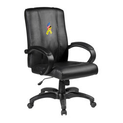 Dreamseat Inc. - Support Our Troops Home Office Chair - Check out this Awesome - it's one of the coolest things we've ever seen. Features a zip-in-zip-out logo panel embroidered with 70,000 stitches. Converts from a solid color to custom-logo furniture in seconds - perfect for a shared or multi-purpose room. Root for several teams? Simply swap the panels out when the seasons change. This is a true statement piece that is perfect for your Man Cave or Home Office, and it's a must-have for the person who wants to personalize their work space.