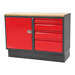 """48"""" WorkBench with Cabinet  - LH - Work Bench with Cabinet"""