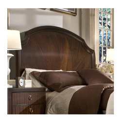 """Legacy Classic Furniture - Laurel Heights Panel Headboard - For a lifestyle focused on style with a touch of sophistication, Laurel Heights creates a thoughtfully designed home furnishings collection with the same attention to detail as a custom-made suit. The striped mahogany creates a striking design element with the dark truffle finish in a high satin sheen. Features: -Laurel Heights collection. -Dark truffle in high satin finish. -Mahogany veneer construction. -Accepts metal bed frame. Dimensions: -Queen: 64"""" H x 64"""" W x 6"""" D, 66 lbs. -King / California King: 66"""" H x 80"""" W x 6"""" D, 84 lbs."""
